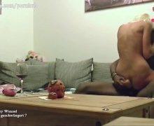 Deutsche Hausfrau beim Fremdfick mit ihrem schwarzen Lover