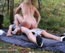 Geiles Sexritual mitten im Wald